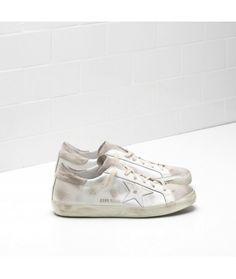 cheap for discount 72ffe c3564 Golden Goose Super Star Sneakers In Calfskin Leather Coated In Silk With  Leather Star Womens - Golden Goose Outlet www.getggdb.com