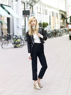 Look de Pernille - Leather Jacket #streetstyle