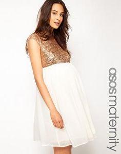 ASOS Maternity   ASOS Maternity Skater Dress With Sequin T-Shirt at ASOS