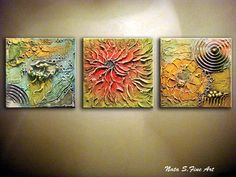 Large Original Abstract Heavy Textured by NataSgallery on Etsy