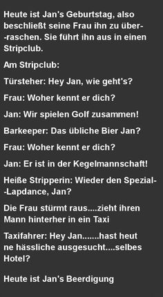 Heute ist Jan's Geburtstag, also beschlie... Great Jokes, Haha, Funny Quotes, Funny Pictures, About Me Blog, Motivation, Memes, Archive, Puns