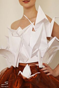 #Paper crane top and #organza skirt from the cover of sisterMAG N°4. Photo by @Chasing Heartbeats