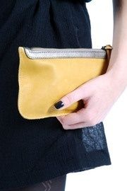 Cute mustard yellow pouch