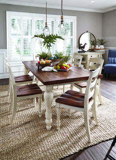 Antique Dining Table Updated with Chalk Paint | Chalk paint, White ...