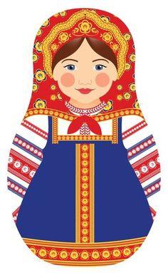 For my handicrafts. Printable matryoshka Russian doll.
