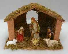 Rustic nativity scene