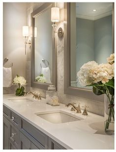 42 Chic Design Ideas to Rejuvenate Your Master Bathroom: www.homeawakening… Are you looking for small bathroom decorating ideas? Dream Bathrooms, Beautiful Bathrooms, Modern Bathroom, Small Bathroom, Bathroom Mirrors, Bathroom Faucets, Big Mirrors, Bathroom Things, Bathroom Canvas