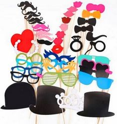 Photo Booth Photobooth Wedding Props Moustache On A Stick Party Prop DIY Funny Photo Booth, Photo Booth Party Props, Wedding Photo Props, Props Photobooth, Christmas Birthday Party, Birthday Party Decorations, Party Favors, Wedding Decorations, Birthday Parties