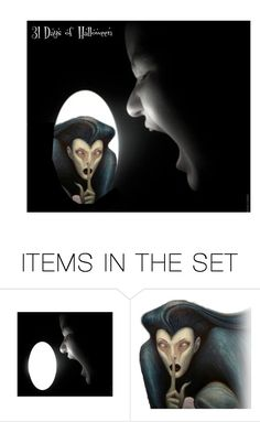 """31 Days of Halloween: 22"" by alynncameron ❤ liked on Polyvore featuring art"