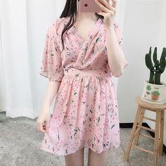 Flower Wrap Dress | fashion, dress and flower