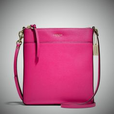 The Coach Saffiano Leather North South Signature Swingpack is Perfect for Those Days you Want to Shop or Run Errands, and Need a Casual Bag to Hold All of Your Personal Items. This Chic Crossbody Swingpack by the Iconic Coach will not Weigh You Down like a Big Bulky Handbag.  You Can be Hands Fre...