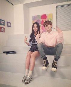 Jung Eunha de Gfriend y park kyung de block b