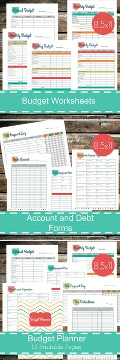 These downloadable printable budgets will help me get my new year off to a great start! Budgeting worksheets and financial planners. #ad #budgeting #budget #financialplanning