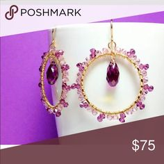 Handmade Swarovski crystal earrings Beautiful earrings that are stylish and one of a kind. It is made with real Swarovski crystals and perfect for any occasion! Kate Spade just for visibility. Bundle and save! kate spade Jewelry Earrings