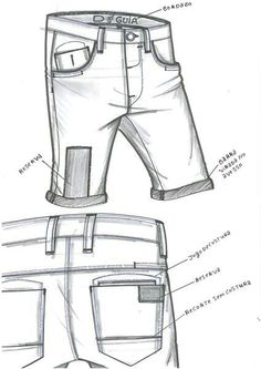 Flat Drawings, Flat Sketches, Short Jeans Feminina, Pants Drawing, Technical Drawing, Fashion Flats, Fashion Sketches, Poses, Colored Jeans