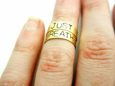 I love these stamped, knuckle rings. What a true and important sentiment.