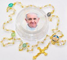 His Holiness Saint Pope Francis I Jorge Mario Bergoglio gifts and souvenirs page. We have a selection of Pope Francis Rosaries, prayer cards, medals and statues. Rosary Beads, Prayer Cards, John Paul, Pope Francis