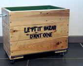 Caisse de rangement en bois de palette, personnalisée : Chambre d'enfant, de bébé par bazar-a-bidules