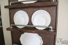 DIY Industrial Pipe Plate Rack - Shanty 2 Chic