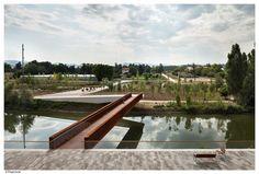 Concrete-Corten_Bridge_Over_Rio_Arga-Aranzadi_Park-01 « Landscape Architecture Works   Landezine