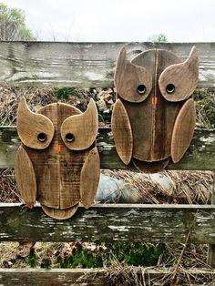 wooden pallet owls