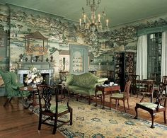 The Chinese Parlor at the Winterthur Museum in Winterthur, Delaware (the former home and estate of Henry Francis du Pont). I think this may go without saying, but, be still my heart.
