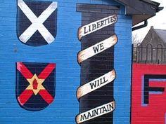 Northern Ireland murals, Belfast. Northern Ireland: A Year of Change. Via @Caroline Ryan