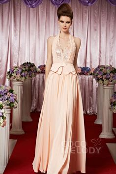 Modern Sheath-Column Halter Floor Length Chiffon Evening Dress with Sequin COSF14042 💟$211.00 from http://www.www.cocomeiody.com   #modern #with #sheathcolumn #bridal #floor #bridalgown #dress #length #mywedding #wedding #evening #halter #sequin #chiffon #weddingdress