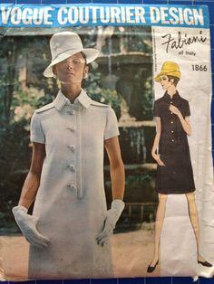 Vogue 1960's Couturier Designer pattern Fabiani