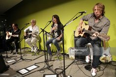 Foreigner band members Tom Gimbel, Mick Jones, Kelly Hansen, and Jeff Pilson attend Private Foreigner Performance On The Eve Of Mick Jones' Songwriters Hall of Fame Induction At The Offices Of J. Walter Thompson on June 12, 2013 in New York City.