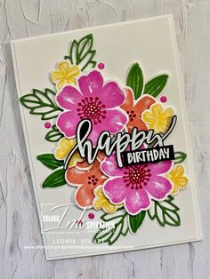 Homemade Birthday Cards, Homemade Cards, Birthday Sentiments, Fancy Fold Cards, Stamping Up Cards, Pretty Cards, Creative Cards, Flower Cards, Scrapbook Cards