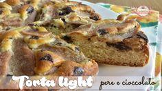 Torta light pere e cioccolato (113 calorie a fetta)