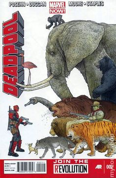 DEADPOOL #2 - Dead former United States presidents, from George Washington to Gerald Ford have been resurrected, and that's BAD. The Marvel heroes can't be the ones to stop them, someone is needed with the reputation, skills and plausible deniability to take out these com-monsters in chiefs...NOW! is the time for Deadpool... In Wade We Trust!