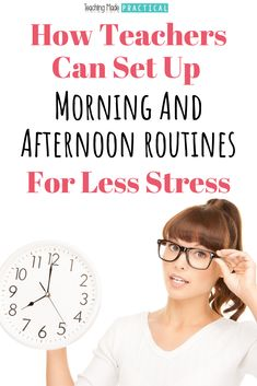 """Use these tip for building habits and creating new routines to make your school day easier and more productive before you head back to school. Taking the time to plan out a morning routine and a """"before I leave school"""" routine can help you stay organized and get more done.  3rd, 4th, and 5th grade teachers already intentionally plan out morning and dismissal routines for their upper elementary students - why shouldn't you do that for yourselves before the first week of school? Social Studies Activities, Teaching Activities, Teaching Tips, Classroom Activities, Classroom Organization, Classroom Management, Class Management, Organization Ideas, Classroom Ideas"""
