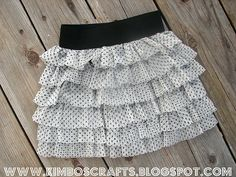 A Little Girls Tiered Skirt Tutorial