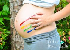 """""""Rainbow Baby"""" the baby that comes after a loss, like the rainbow after a storm. Simply Beautiful. I love this photo."""