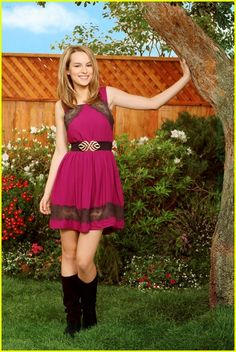 Brigit Mendler of Good Luck Charlie. Who doesn't love her? Her talent is amazing. She plays Teddy on Good Luck Charlie and she played a mean girl in The Clique. Very good book. She guested stared on Jonas and Wizard of Waverly Place, playing the amazing attractive David Hernie's love interst.