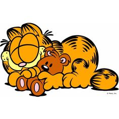 """Garfield photo """"A little Sunday goes a long way with a friend."""""""