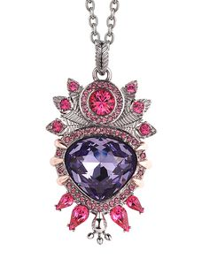 Stephen Webster. Seven Deadly Sins. Pride Pendant set in sterling silver with pave crystals.