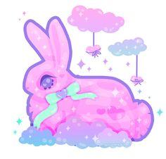 Sky Puff Love Bunny by MissJediflip.deviantart.com on @DeviantArt