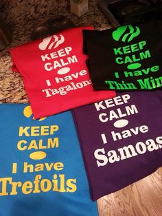 Girl Scout Cookie shirts