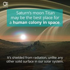 Something closer could've been convenient, but it looks like space has other plans. Check out the full article on Curiosity.com and in the Curiosity app! #saturn #titan #extraterrestrial #moon #curiosity Saturns Moons, Extra Terrestrial, Our Solar System, Curiosity, The Good Place, Surface, Good Things, How To Plan, Closer