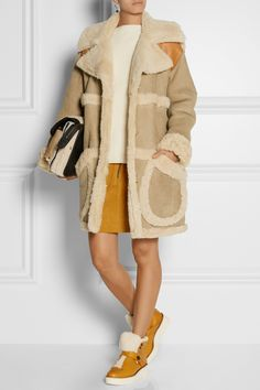 Coach | Urban Hiker shearling-trimmed leather boots | NET-A-PORTER.COM