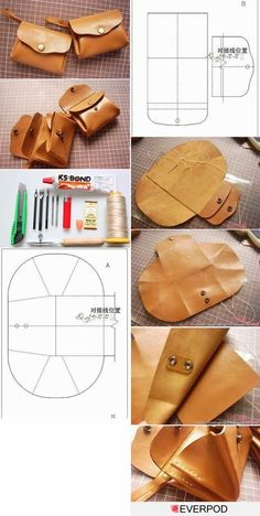 The Best In Internet: How To Make Pocket Purse Pattern Tutorial . The best in internet: How to make pocket purse pattern tutorial diy purse making - Diy Bag and Purse Leather Tutorial, Purse Tutorial, Diy Tutorial, Diy Purse Making, Making Purses, Leather Bag Pattern, Diy Sac, Diy Bags Purses, Purse Patterns