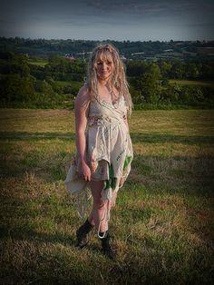 Glastonbury Festival dress upcycled eco friendly by OshunCreations