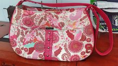Daytripper Bag in Tula Pink Fabric, Pink Vinyl - pinned by pin4etsy.com