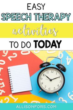 Speech therapy activity ideas! Read some of my favorite, go-to ideas to keep things engaging and motivating for my speech therapy students. #speechtherapy #slpeeps