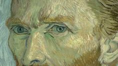 """Dettaglio di """"Autoritratto"""" (Van Gogh 1889)"""