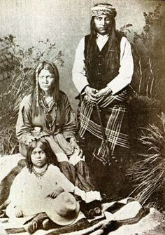 "Kaahteney, his wife, Guyan, and the child  Kaywaykla.  Guyan was a ""warrior"" who fought by her husbands side until his death. Kaahteney was choosen by Nana to succeed him as leader of the Chiricahua."