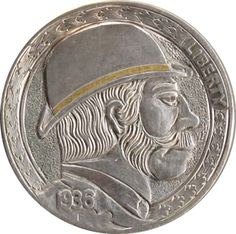 Marcus Hunt Hobo Nickel, Coin Art, Buffalo, Classic Style, Coins, Auction, Carving, Stuff To Buy, Rooms